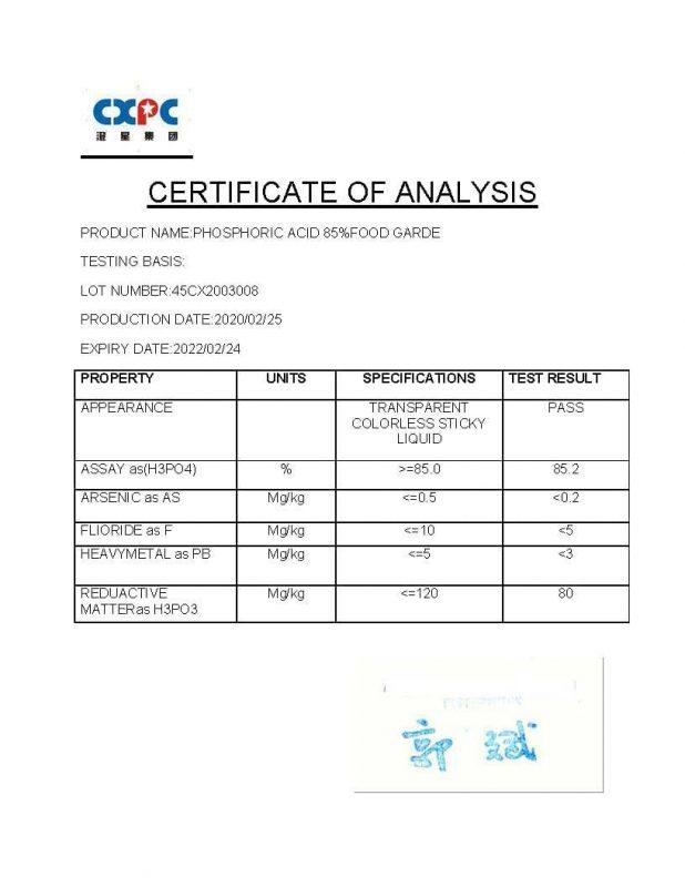 آنالیز اسید فسفریک