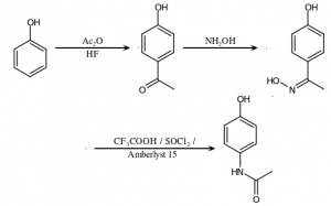 فرمول شیمیایی استامینوفن