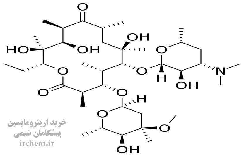 ساختار مولکولی اریترومایسین