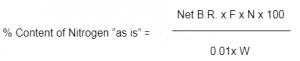 محاسبه میزان نیتروژن در کراس پویدون