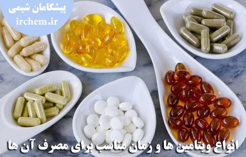 تصویر بهترین زمان مصرف ویتامین ها