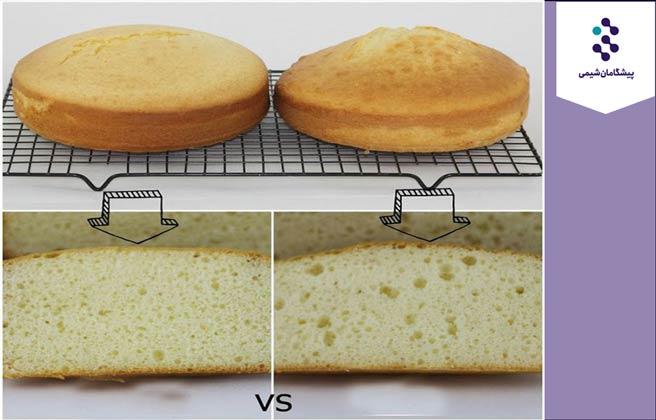 تفاوت شیر با آب درتهیه کیک